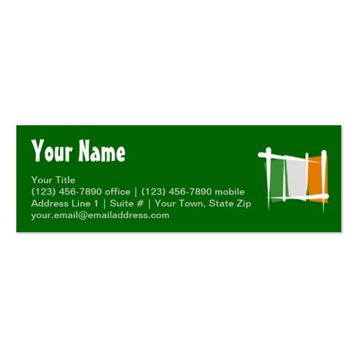 Irland-Bürsten-Flagge Visitenkartenvorlage