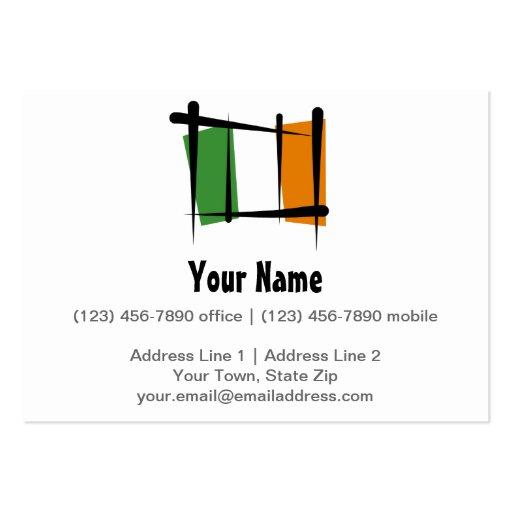 Irland-Bürsten-Flagge Visitenkarte