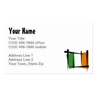 Irland-Bürsten-Flagge Visitenkarten