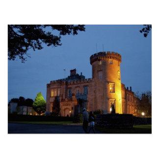 Irland, das Dromoland Schloss beleuchtete an der Postkarte