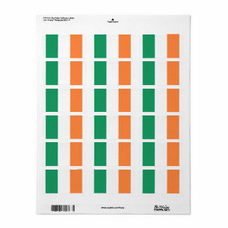 Irland-Flagge Adressaufkleber