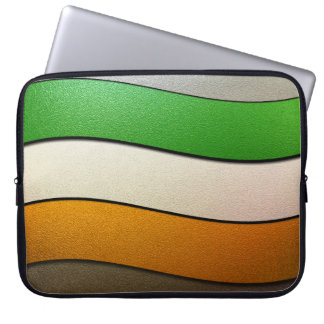 Irland-Flagge Farbe-Chrom durch Shirley Taylor Laptop Sleeve