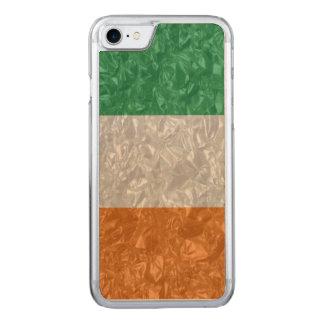 Irland-Flagge - gekrümmt Carved iPhone 8/7 Hülle