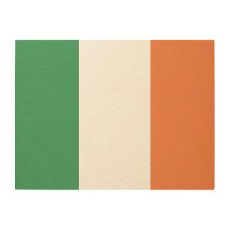 Irland-Flagge Holzleinwand