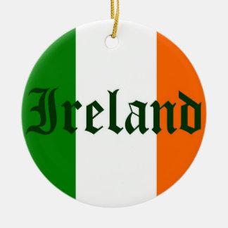 Irland-Flagge Rundes Keramik Ornament