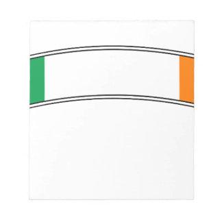Irland-Flaggen-Band Notizblock