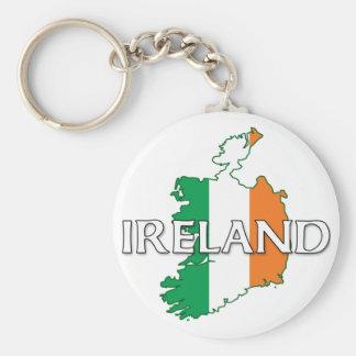 Irland-Flaggen-Farben Standard Runder Schlüsselanhänger