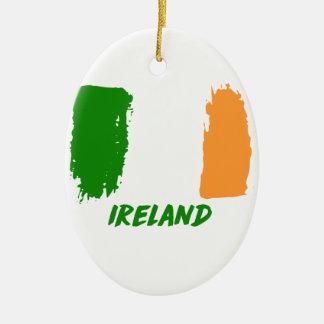 Irland-Flaggenentwurf Keramik Ornament