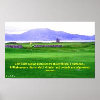 Irland-Golfplatz-Druck Poster