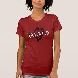 Irland Harfe Girlie T-Shirt