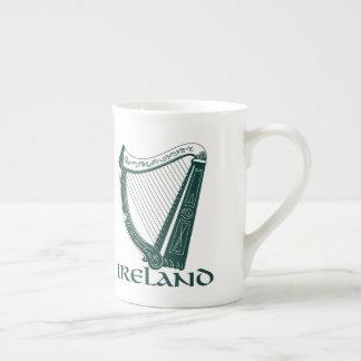 Irland-Harfen-Entwurf, irische Harfe Porzellantasse