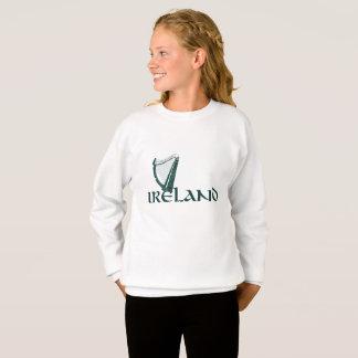Irland-Harfen-Entwurf, irische Harfe Sweatshirt