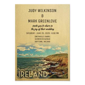 Irland-Hochzeits-Einladungs-Vintage Mitte des Karte