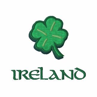 Irland-Iren Bestickter Reißverschluss Hoodie