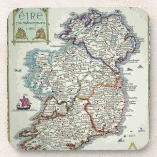 Irland-Karte - historische Karte IrenEire Erin Getränkeuntersetzer