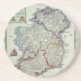 Irland-Karte - historische Karte IrenEire Erin Untersetzer