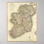 Irland-Karte Posterdrucke