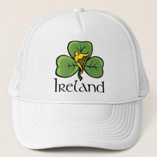 Irland-Kleeblatt und -harfe Truckerkappe