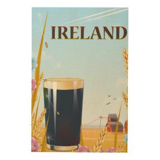 Irland-Literlandschaftsreiseplakat Holzdruck