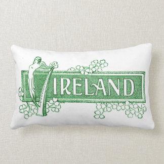 Irland mit irischer Harfe Zierkissen