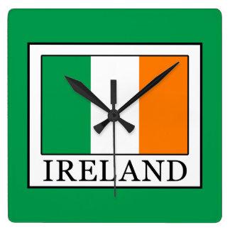 Irland Quadratische Wanduhr