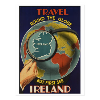 Irland-Reise-Plakat-Postkarte Postkarte
