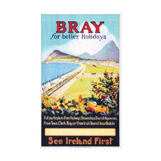 Irland-Schrei-Vintages Reise-Plakat wieder Leinwanddruck