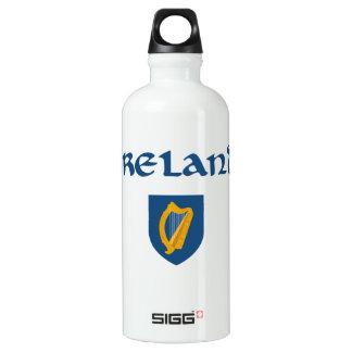 Irland + Wappen Aluminiumwasserflasche