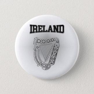 Irland-Wappen Runder Button 5,1 Cm