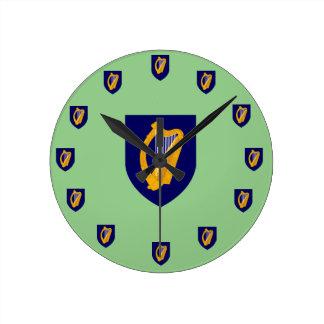 Irland-Wappen Wanduhr