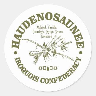 Irokese Confederacy (Haudenosaunee) Runder Aufkleber