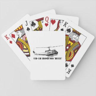 Irokese-Hubschrauber der Karten-UH-1H Spielkarten