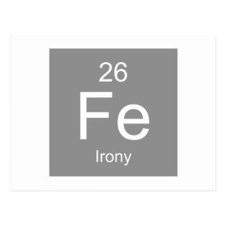 Ironie-Element Postkarte