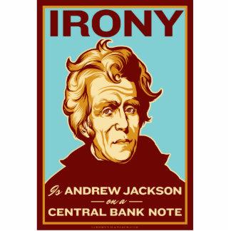 Ironie ist Jackson auf einer Freistehende Fotoskulptur