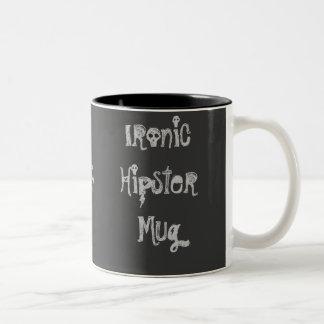 Ironische Hipster-Tasse 2 Zweifarbige Tasse