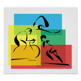 Ironman abstraktes Plakat 4