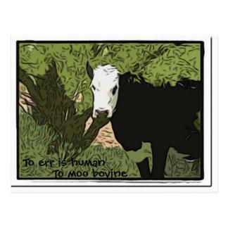 Irren ist menschlich zu MOO-rinderartiges Tier Postkarte