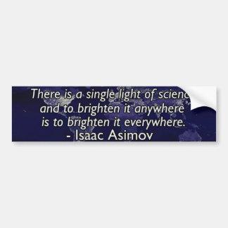 Isaac Asimov-Zitat Autoaufkleber