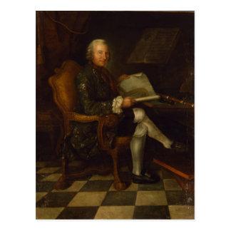 Isaac Egmont von Chasot an seinem Schreibtisch, Postkarte