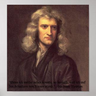 Isaac Newton Zitat Poster