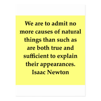 Isaac- Newtonzitat Postkarte