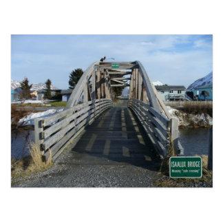 Isaalux Brücke in der Stadt von Unalaska, AK Postkarte