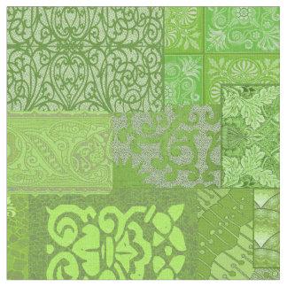 Isabella-grünes großes stoff