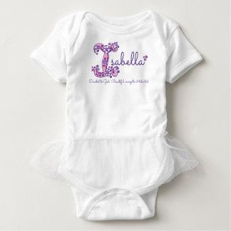 Isabella-Mädchen Name u. Monogramm-Shirt der Baby Strampler