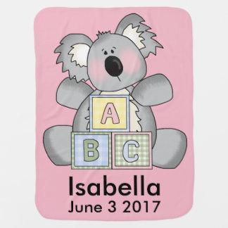 Isabella personalisierter Koala Kinderwagendecke