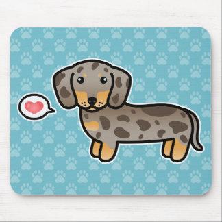 Isabella und TAN Dapple glatten Mantel-Dackel-Hund Mauspad