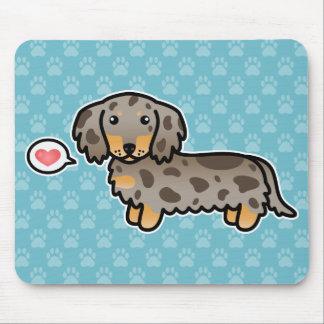 Isabella und TAN Dapple langen Mantel-Dackel-Hund Mauspad