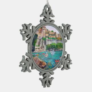 Ischia-Zinn-Schneeflocke-Verzierung Schneeflocken Zinn-Ornament