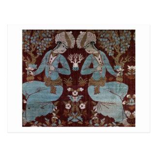Isfahan-Artplatte, Perser, 17. Jahrhundert (Seide) Postkarten