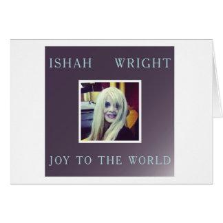 Ishah Freude zum Weltweihnachten Notecard Mitteilungskarte